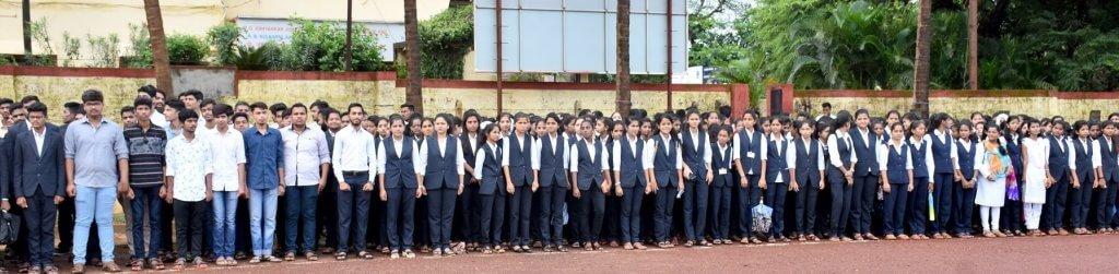 गोगटे जोगळेकर महाविद्यालयात '७३वा भारतीय स्वातंत्र्यदिन' उत्साहपूर्ण वातावरणात साजरा